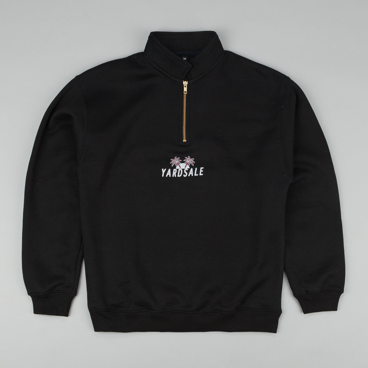Yardsale Quarter Zip Sweatshirt Black