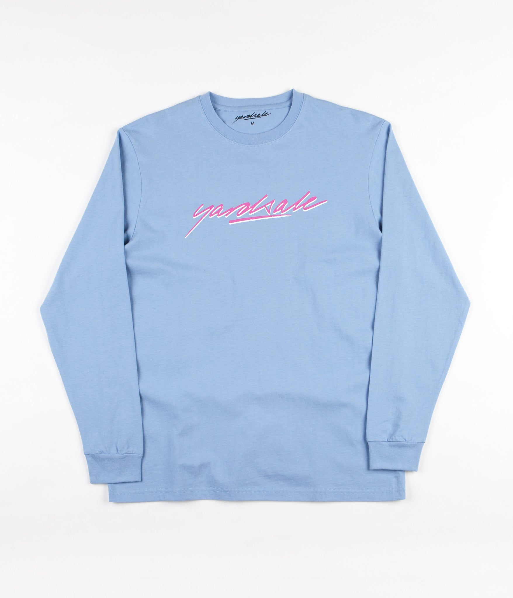 Yardsale Script Long Sleeve T-Shirt - Light Blue