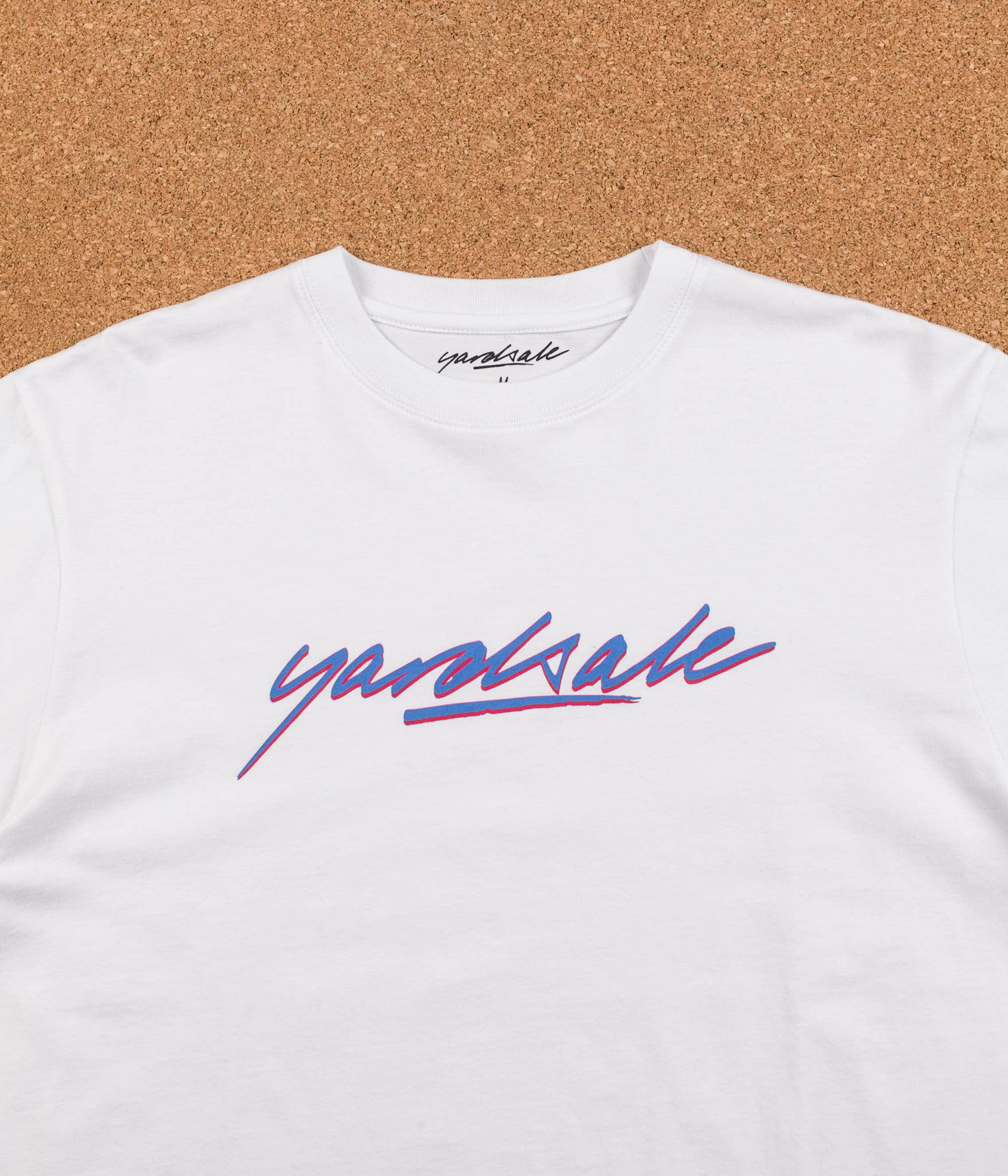 Yardsale Script Long Sleeve T-Shirt - White