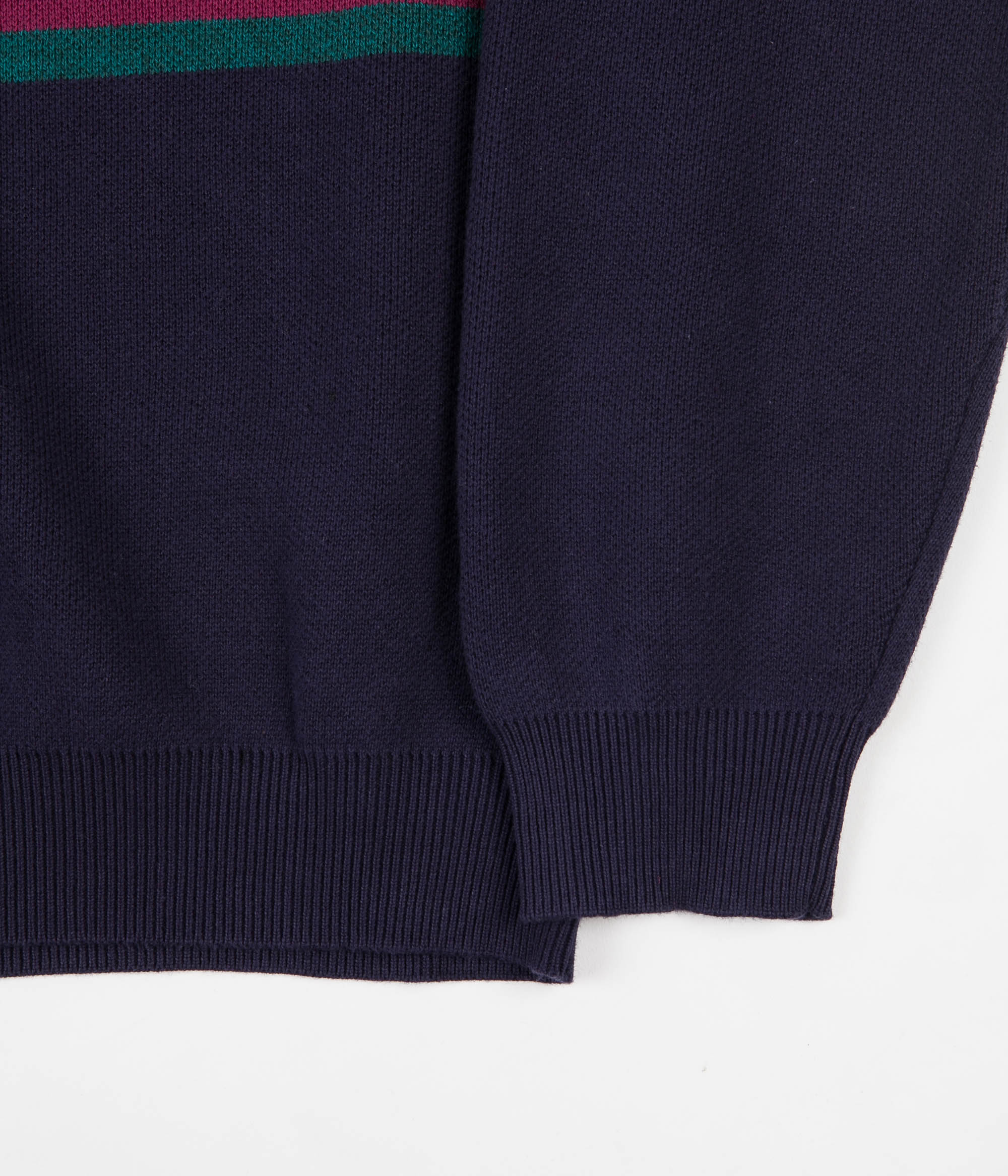 Yardsale South Bay Roll Neck Knitted Sweatshirt - Indigo