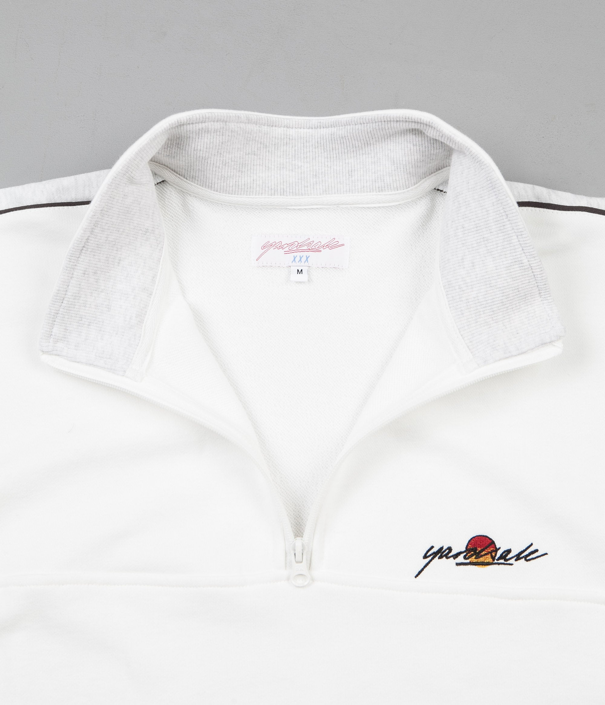 Yardsale Sunscript Quarter Zip Sweatshirt - White