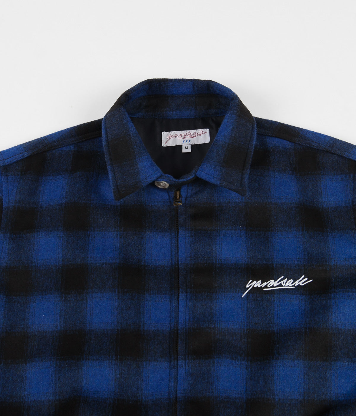 Yardsale Tartan Harrington Jacket - Blue / Black