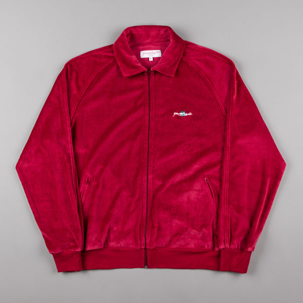 Yardsale Terry Tracksuit Jacket - Ruby