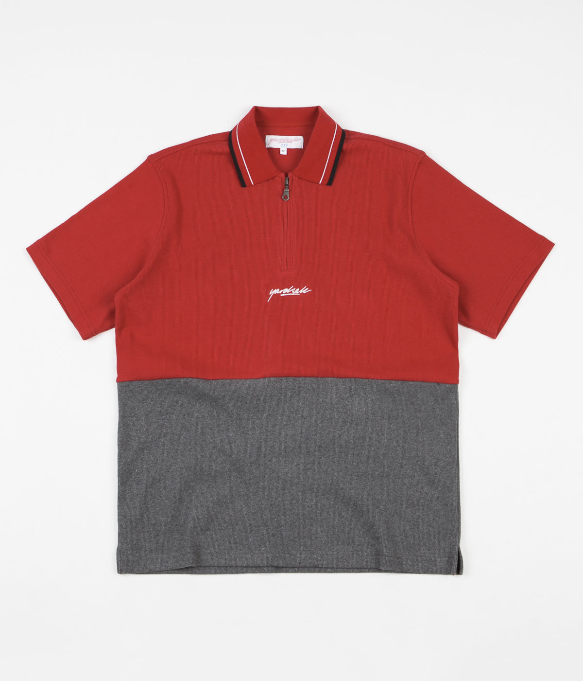 Yardsale Tiger 1/4 Zip Polo Shirt - Ruby / Heather