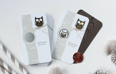 24 Scratch Off Cards // Owl or Woodland Creatures Theme