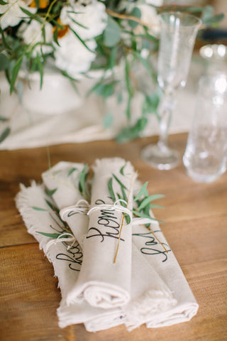 Rolled Napkins (Home & Love)