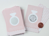 Scratch Off Cards for Bridal Shower or Bachelorette Game // Champagne Pink (Set of 24)