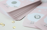 24 Scratch Off Cards for Baby Shower Game // Little Lamb in Champagne Pink