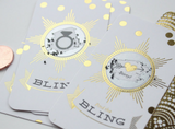 "12 Gold Foil Scratch Off Cards // ""Find the Bling"" Shower Game"