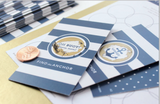 24 Scratch Off Cards Game // Nautical Stripes