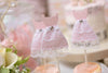 Pink and Lace Dress Cupcake Topper