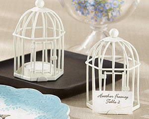 Ivory Birdcage Tealight/Place card holder