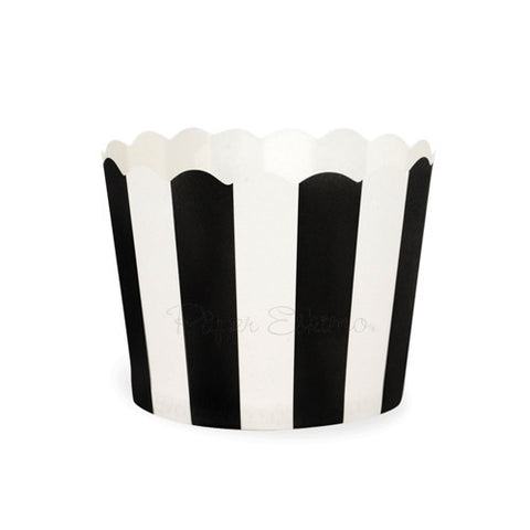 Baking Cup Black Stripes 25PC