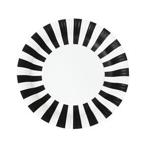 Black Tie Paper Plates 12PC