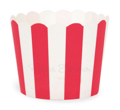 Red Stripes Baking Cup (25 PC)