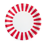 Candy Cane Red Lunch Plates (12 PC)
