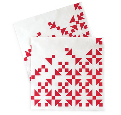 AZTEC RED NAPKINS (20 PC)