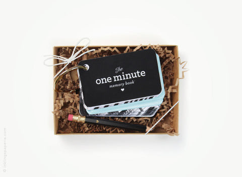 The One Minute Memory Book - Blue