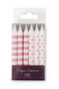 PINK FLOSS BIRTHDAY CANDLES - 12 Pack