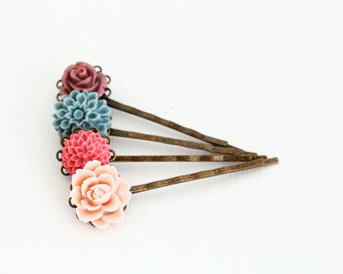 Pink and Blue Bobby Pins