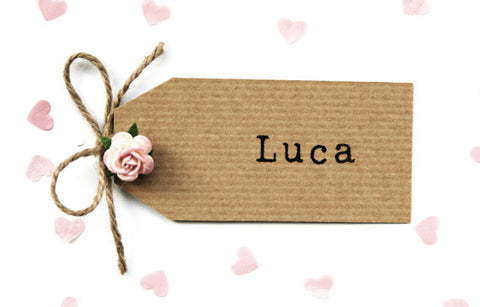 Rustic Rose and Twine Place Card