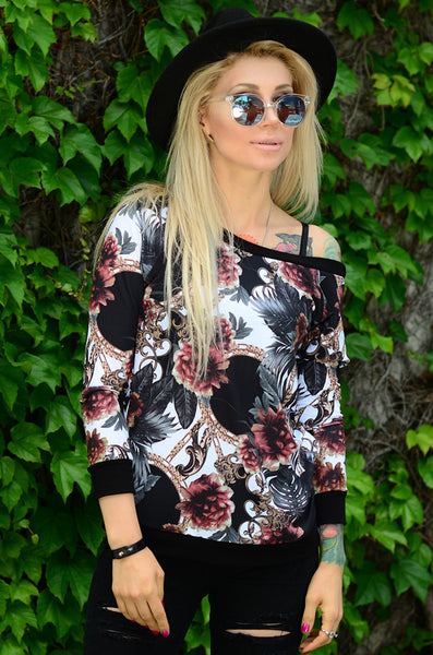 Tropical Natural Zip Back Shirt