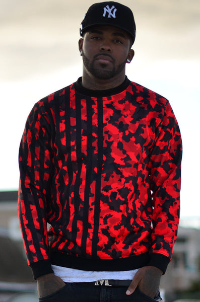 Infrared Camouflage Crew Neck Sweatshirt - R in G