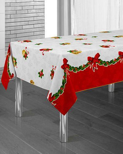 Tablecloth Christmas Bells - CLICK IN RED