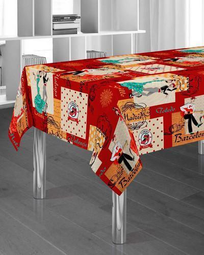 Tablecloth Spanish Red - CLICK IN RED