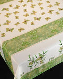 Tablecloth Mariposas Verde - CLICK IN RED