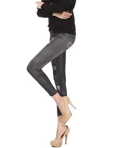 Leggins Jeans - CLICK IN RED
