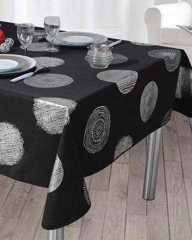 Tablecloth Bright Black - CLICK IN RED
