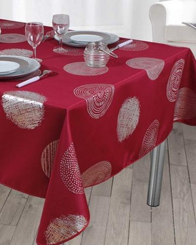 Tablecloth Bright Red - CLICK IN RED