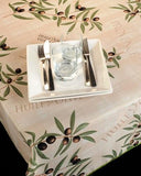 Tablecloth  Provence Olive Beige - CLICK IN RED