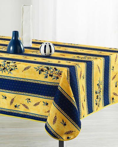 Tablecloth Blue Wheat Yellow