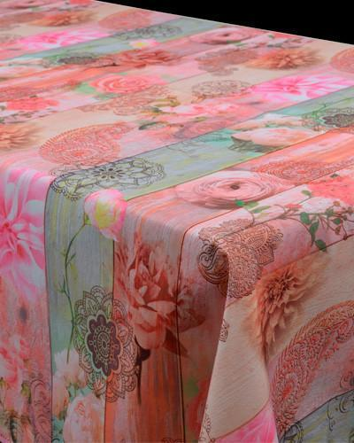 Tablecloth Pink Roses - CLICK IN RED