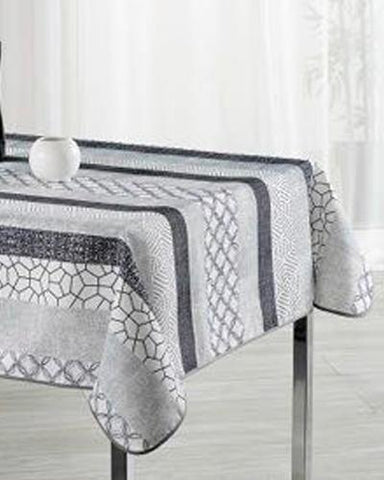 Tablecloth Grey Geometry