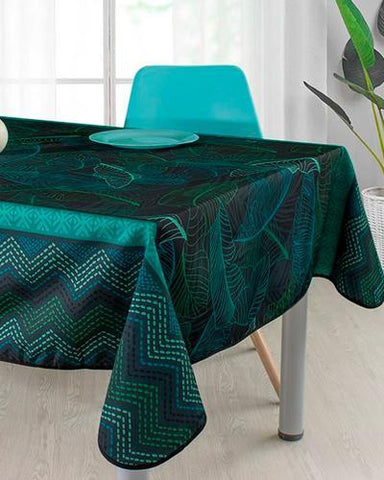 Tablecloth Green Zigzag