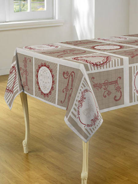 Tablecloth Red Letter - CLICK IN RED