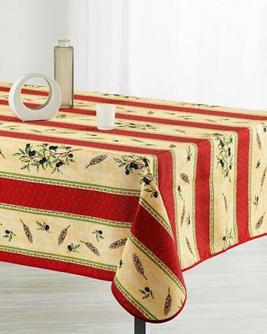 Tablecloth Red Wheat Yellow