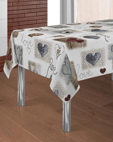 Tablecloth Heart - CLICK IN RED