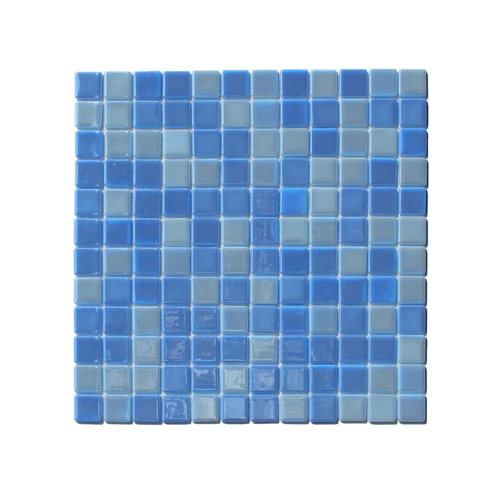 GLOW-IN-THE-DARK GLASS TILE • Ocean Blue Gloss • Opus One / 1 sq mt ...