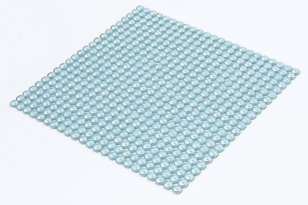 Lacrimae Lucis LIGHT BLUE Glow-in-the-dark Glass Tile / 1 sq. meter box (10 sheets)