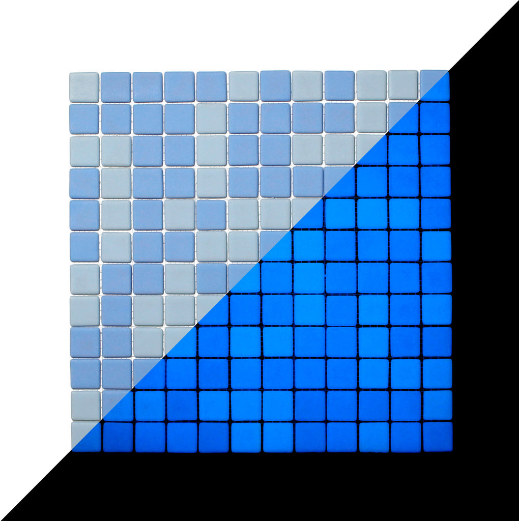 GLOW-IN-THE-DARK GLASS TILE • Ocean Blue Matte • Opus One / 1 sq mt ...