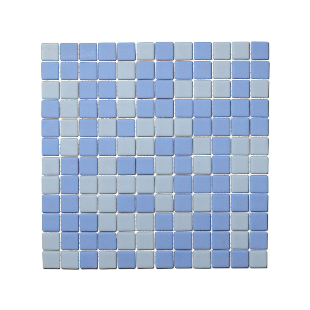 Glow In The Dark Glass Tile Ocean Blue Matte Opus One