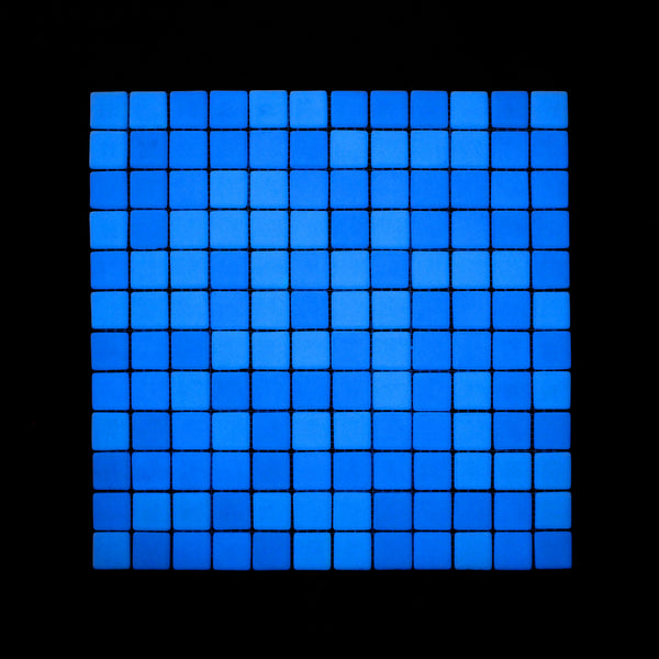 Opus One OCEAN BLUE Glow-in-the-dark Glass Tile / 1 sq. meter box (10 sheets)