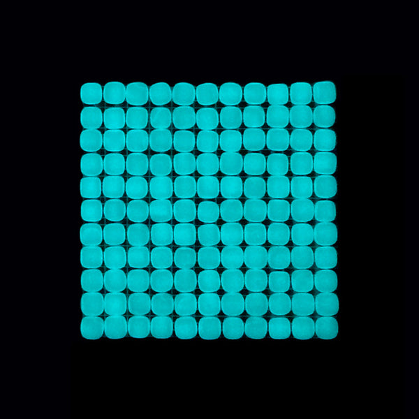 Lacrimae Lucis LIGHT BLUE Glow-in-the-dark Glass Tile  (6 inch SAMPLE)