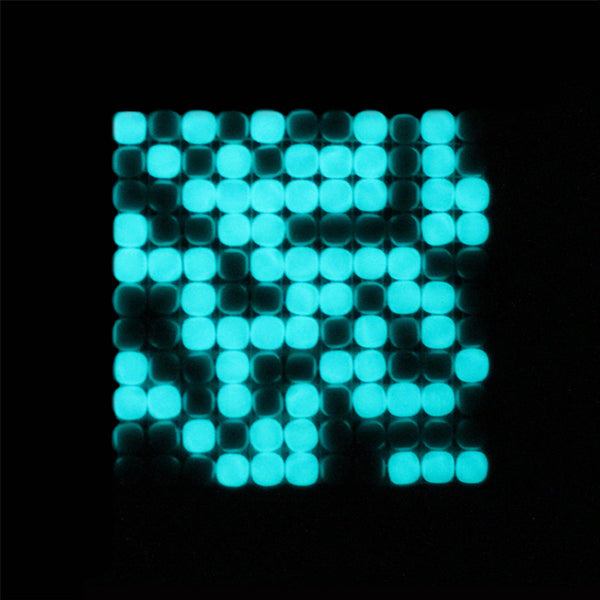Lacrimae Lucis MIXED ON/OFF Glow-in-the-dark Glass Tile  (6 inch SAMPLE)