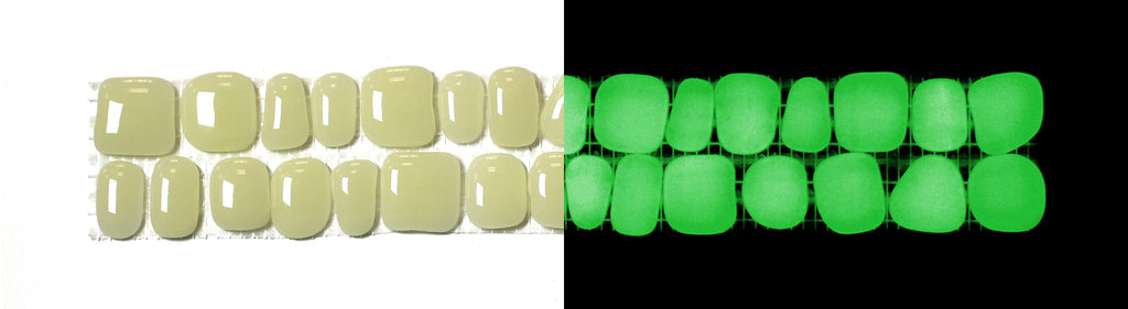 YELLOW-GREEN Glow-in-the-dark Decorative Listellos / Box of 5 strips