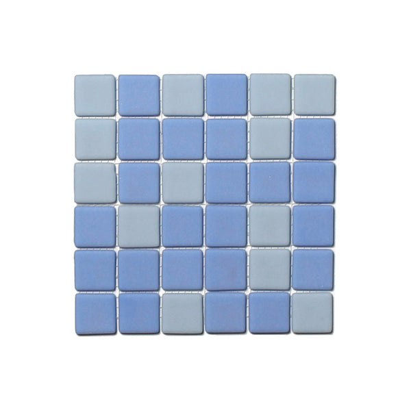 Opus One OCEAN BLUE MATTE Glow-in-the-dark Glass Tile  (6 inch SAMPLE)